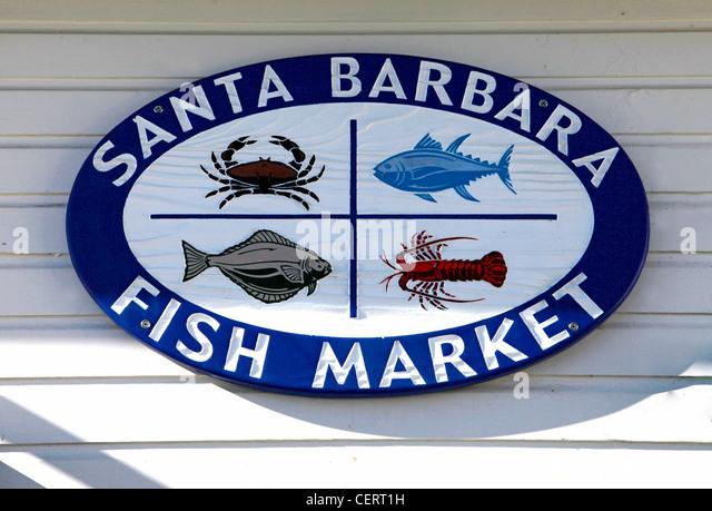 Fish Market Sign Stock Photos Fish Market Sign Stock