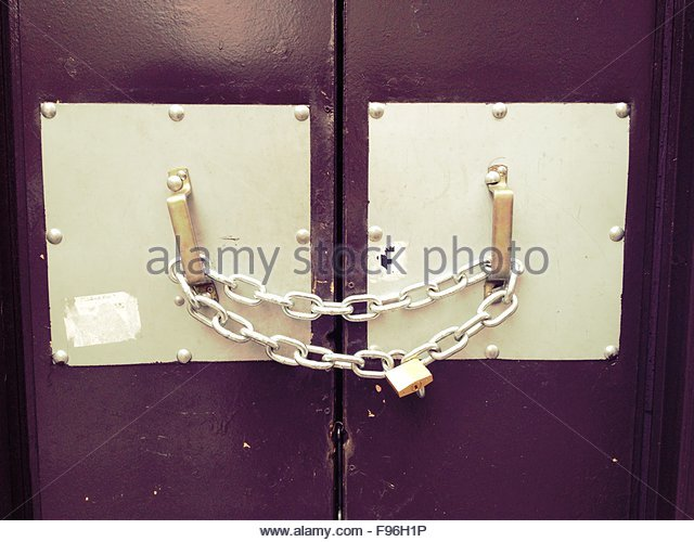 Door chain stock photos door chain stock images alamy for Door lock germany