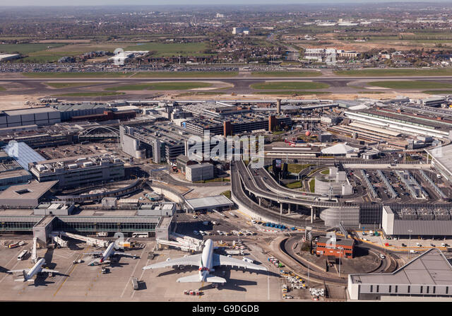 Aerial Heathrow Airport London England Stock Photos