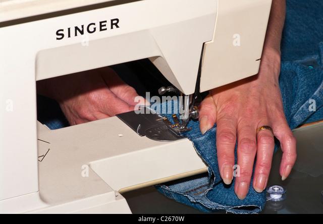 using sewing machine