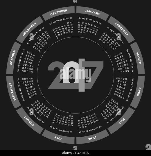 Round Calendar Design : New year black and white stock photos images alamy