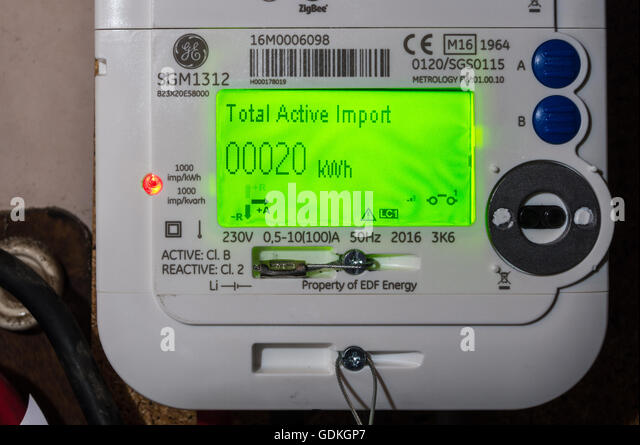 Ge Meter Reader : Edf energy and home stock photos