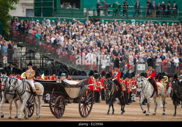 Queen Procession London Video Open Top Car