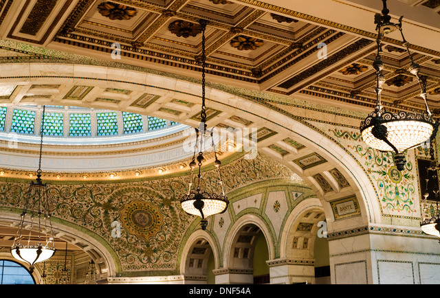 chicago cultural center stock photos chicago cultural center stock images alamy. Black Bedroom Furniture Sets. Home Design Ideas
