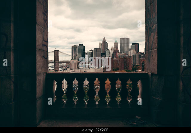 Nyc skyline balcony stock photos nyc skyline balcony for New york balcony