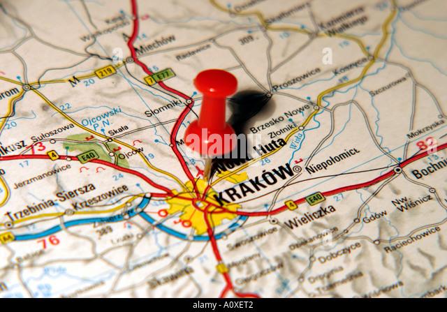 Map Of Krakow Stock Photos  Map Of Krakow Stock Images  Alamy