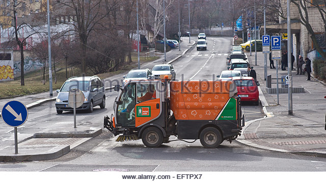 Road Sweeper Lorry Stock Photos & Road Sweeper Lorry Stock