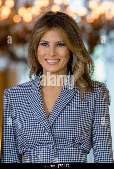 US tycoon Donald Trump with wife Melania Trump at Trump Turnberry Golf ...