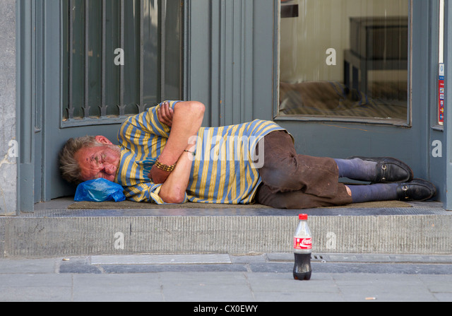 homeless tramp vagrant sleeping rough stock photos homeless tramp vagrant sleeping rough stock. Black Bedroom Furniture Sets. Home Design Ideas