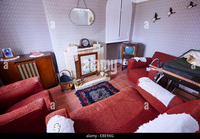 Living Room 1950s 1950s living room nobody stock photos & 1950s living room nobody