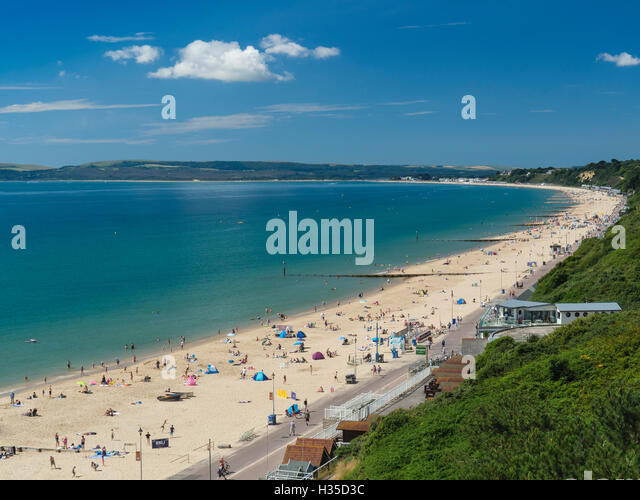 Bournemouth West Beach And Cliffs Poole Bay Dorset England United Kingdom