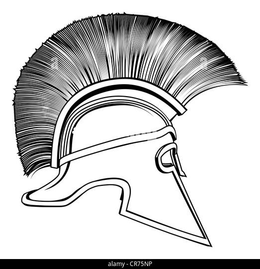 Spartan Helmet Drawing Side View