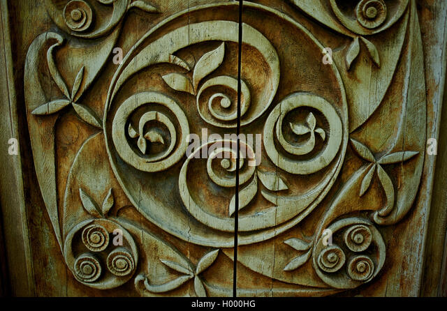 Carved brown wood texture stock photos