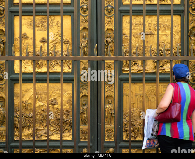 ITALY TUSCANY FLORENCE BAPTISTERY BRONZE DOORS - Stock Image & Bronze Doors Stock Photos \u0026 Bronze Doors Stock Images - Alamy Pezcame.Com