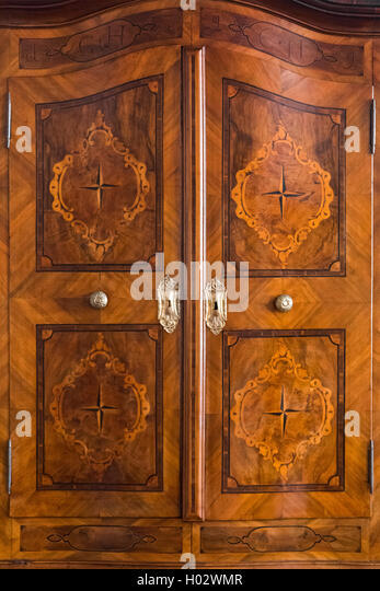 Doors Of The Vintage Closet At The Exhibition In The Rectoru0027s Palace Museum  In Dubrovnik,