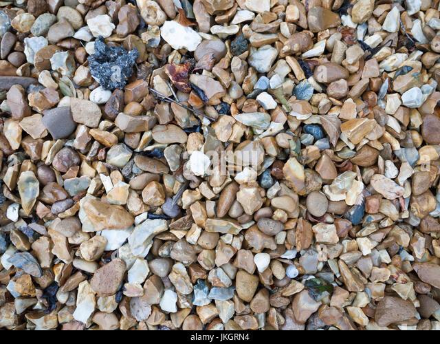 Background Texture Of Garden Pebbles And Rocks; Essex; UK   Stock Image