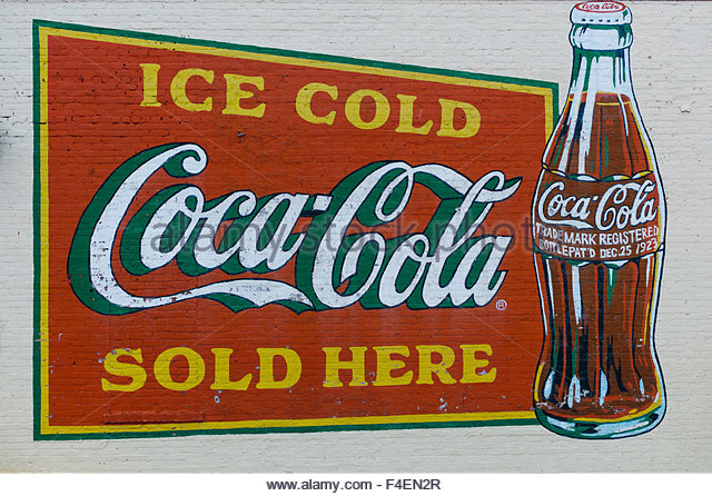 Old coca cola stock photos old coca cola stock images for Coca cola wall mural