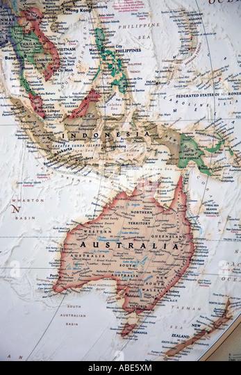 Detailed Australia Map Stock Photos Detailed Australia Map Stock - Australia detailed map
