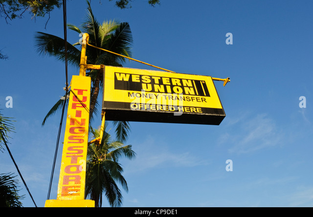 western union sign stock photos western union sign stock images alamy. Black Bedroom Furniture Sets. Home Design Ideas
