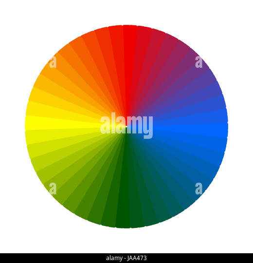 Colour Wheel Chart Cut Out Stock Images Pictures Alamy