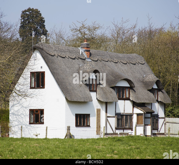 Anne Hathaways Cottage Shottery Village Stock Photos
