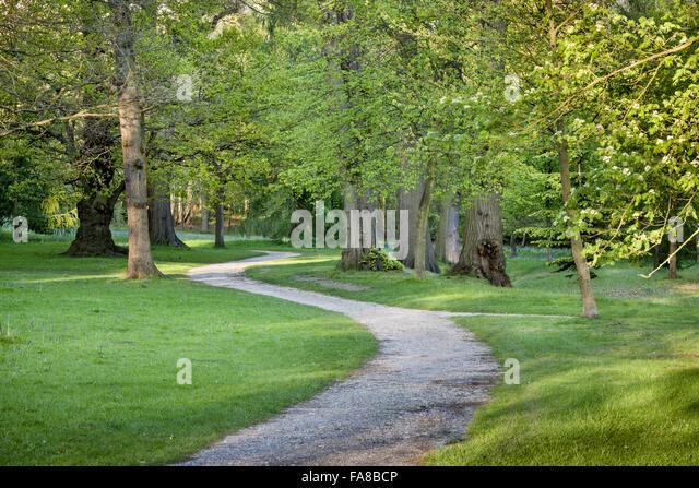 Landscape Garden Surrey : Claremont landscape garden stock photos