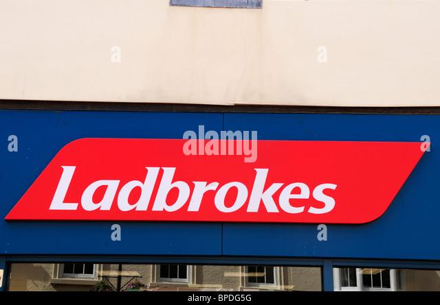 Ladbrokes Betting Shop Sign Stock Photos & Ladbrokes Betting