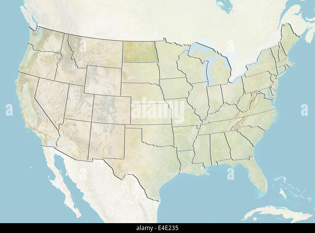Map Of North Dakota Stock Photos Map Of North Dakota Stock - North dakota map united states