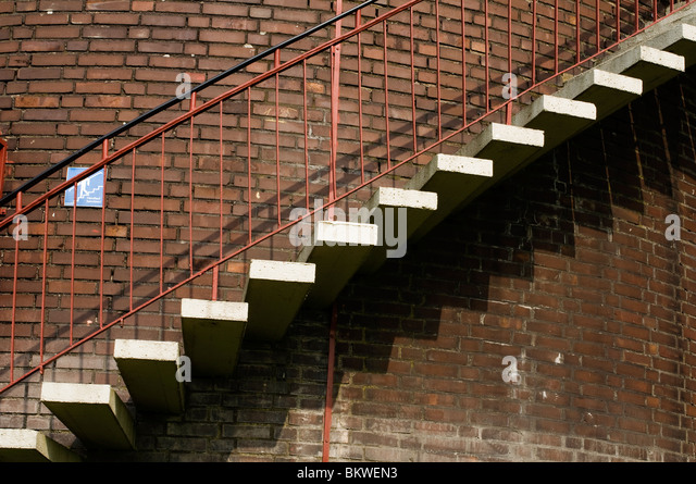 Water Tank Stairs : Decline and fall stock photos