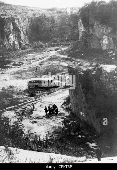 Granite Quarried In Mauthausen : Quarry stock photos images alamy