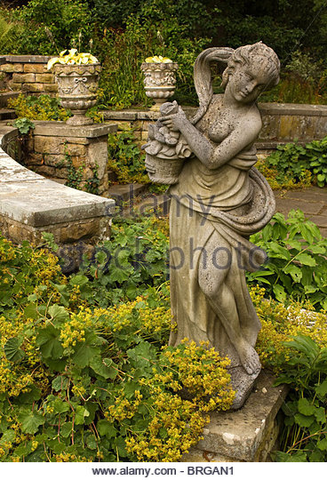 Classical Goddess Statue In Statue Garden At Belvoir Castle,  Leicestershire, England, UK