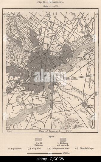 Philadelphia Map Stock Photos Philadelphia Map Stock Images Alamy