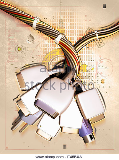 electric bus cables stock photos electric bus cables stock assortment of connection cables and plugs stock image