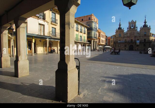 Astorga Main Square Plaza Mayor Stock Photos & Astorga Main Square Plaza ...