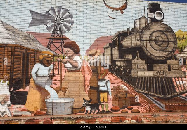 Mural alice springs australia stock photos mural alice for Australian mural