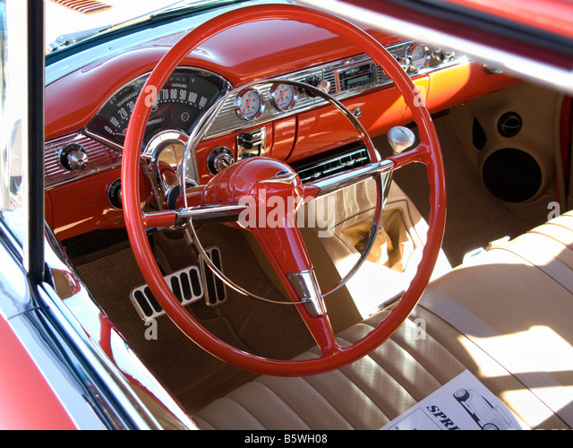 1950s car interior stock photos 1950s car interior stock images alamy. Black Bedroom Furniture Sets. Home Design Ideas