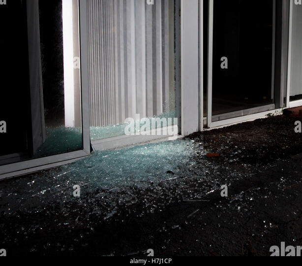 how to fix a shattered glass door