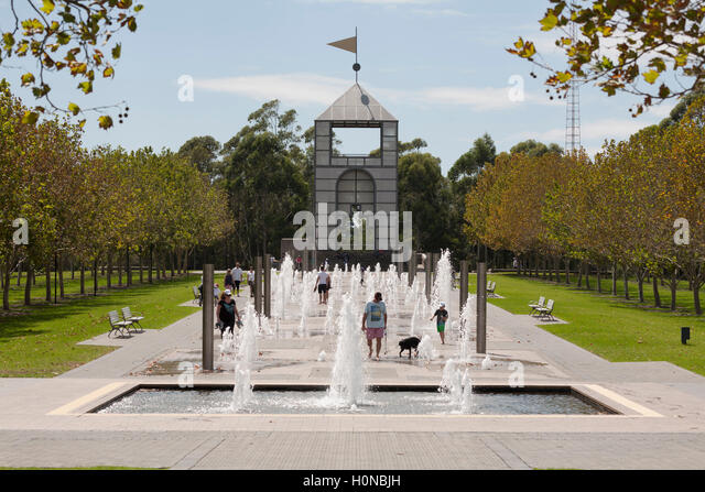Very Popular Water Fountain Walk At Olympic Park Homebush Bay Sydney Australia