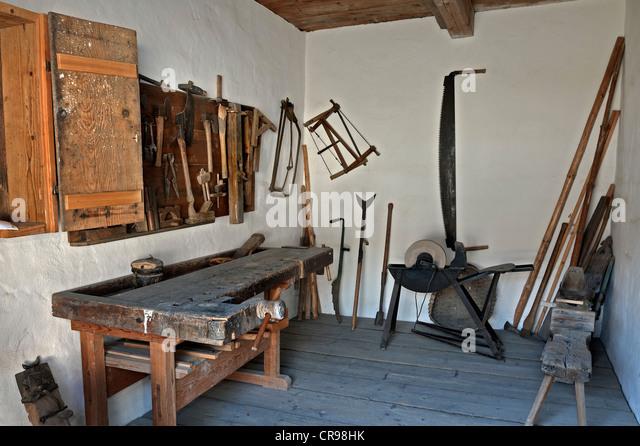 Carpenters Shop Bernoeder Hof Farmhouse Bauernhausmuseum Amerang Museum Bavaria