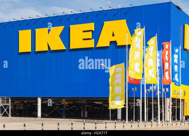 Ikea furniture store flags stock photos ikea furniture for Ikea showroom near me