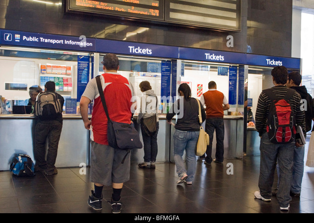 Queue ticket station stock photos queue ticket station stock images alamy - Kings cross ticket office opening times ...
