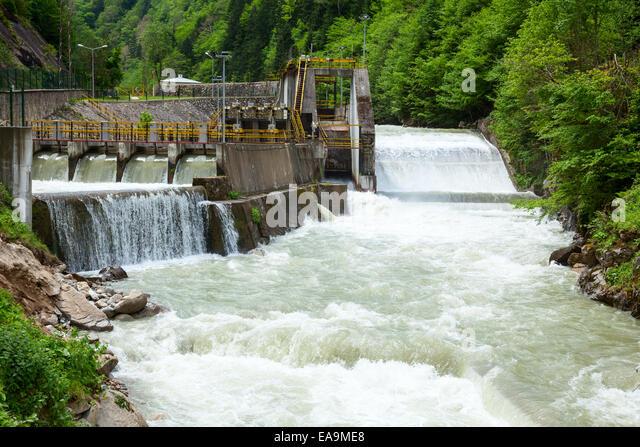 Mini Hydroelectric Dam : Turkey energy stock photos images