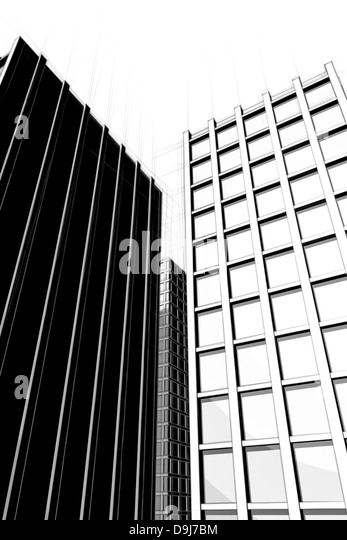 Draft Art Graphic View Skyscraper Architecture Sketch Building Large Skyscrapers City