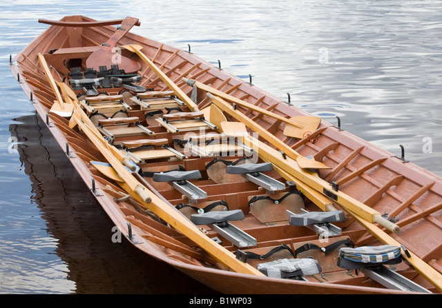 Multi Seat Wooden Row Boat