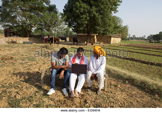 Indian farmers working...