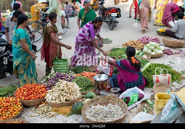 Indian Market Indian Market Bustling...