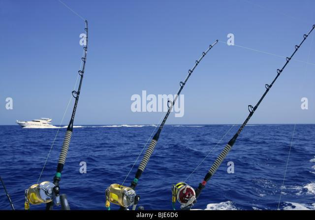 Tuna fishing pole and line stock photos tuna fishing for Tuna fishing pole