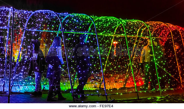 Christmas Lights Tunnel Stock Photos Christmas Lights Tunnel Stock Images Alamy