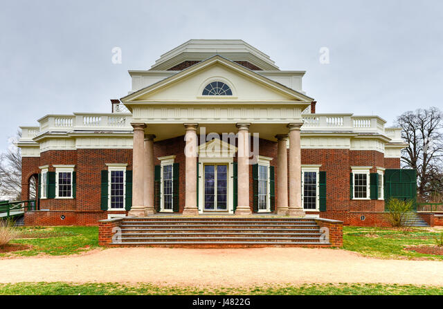 Thomas jeffersons home stock photos thomas jeffersons for Thomas jefferson house monticello