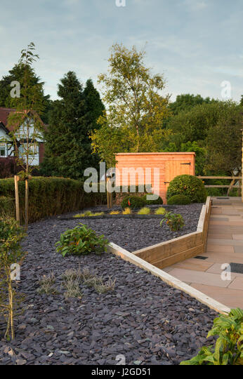 Small garden design landscaping stock photos small for Garden design yorkshire